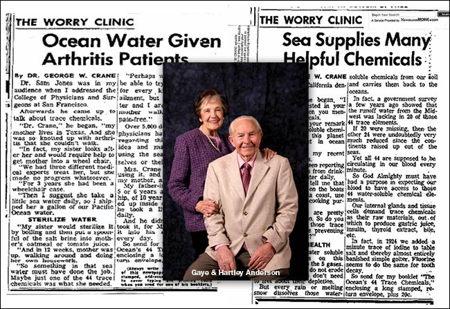 Dr. Crane The Worry Clinic & Gaye And Hartley Anderson